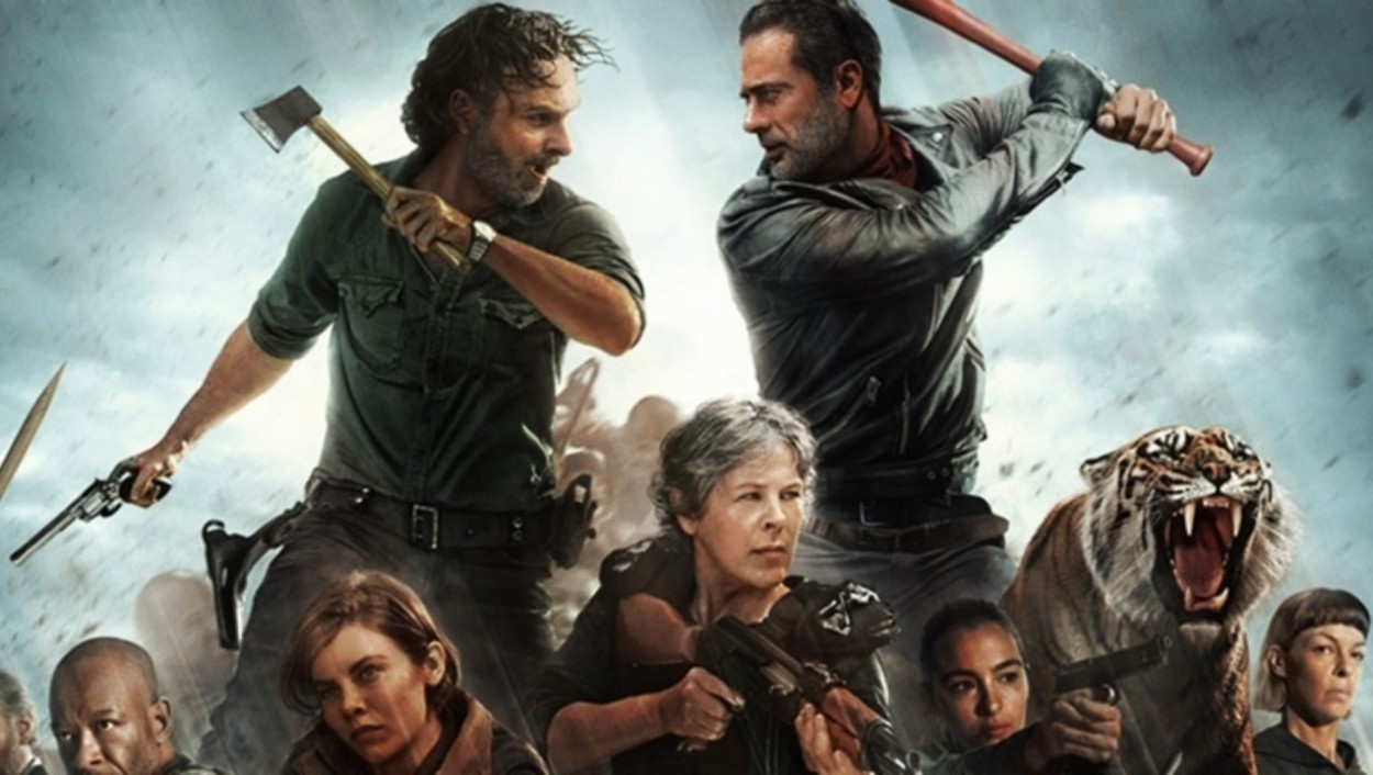 Rick and Negan Battle